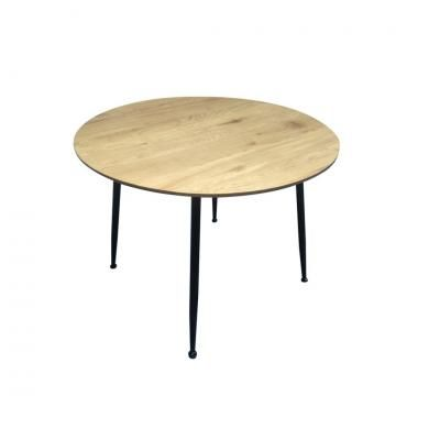 Kerek étkezőasztal fekete lábakkal, 100 cm - PORTO